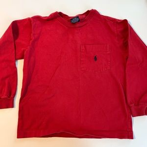Red Longsleeve Boys Ralph Lauren Tee